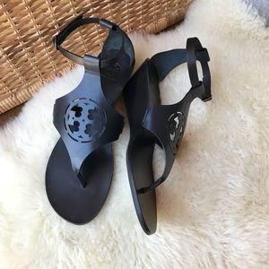 ♥️♥️Tory Burch Zoey Sandals Size 10.5 Navy Blue